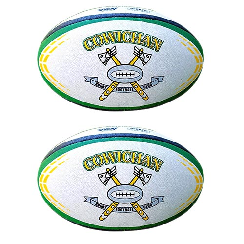 #5 Regulation custom Rugby Ball. Retro Axes both sides