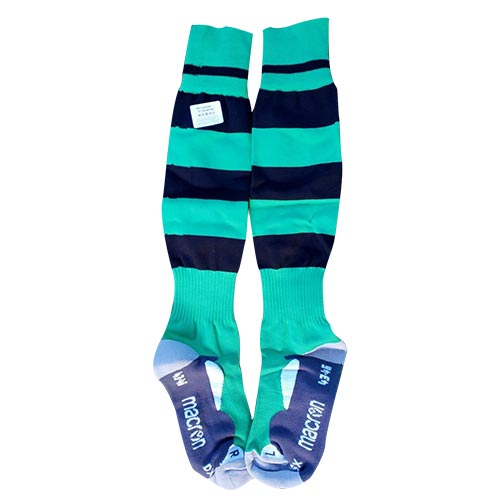 Cowichan Rugby socks in team coloured stripes